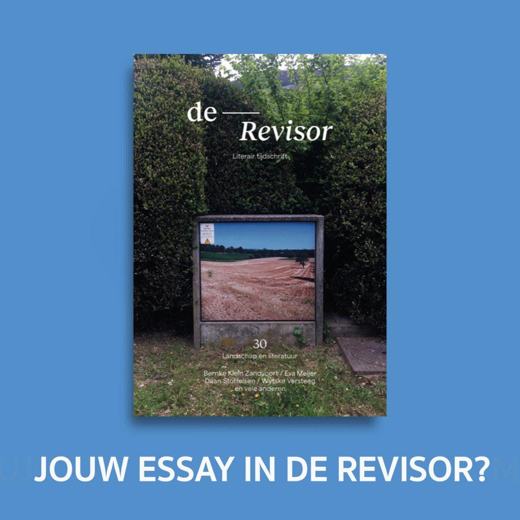 Revisor en De Nieuwe Garde - Gezamenlijke oproep Literatuur en landschap